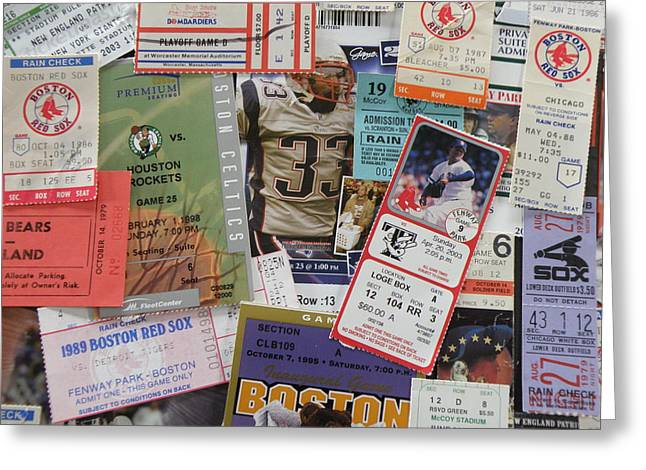 Tickets Boston Greeting Cards - Old Stubs Greeting Card by Barry Fineberg
