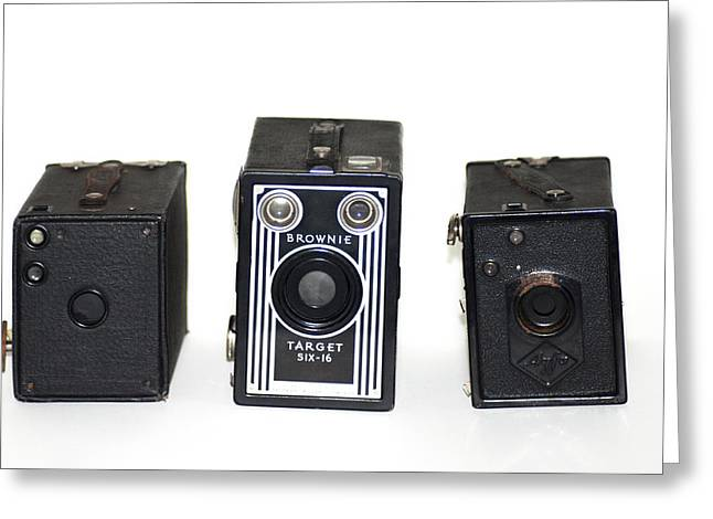 Brownie Greeting Cards - Old Style Cameras Greeting Card by Bill Cannon