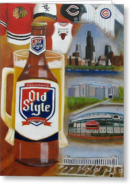 Old Style Chicago Style Greeting Card by Craig Wade