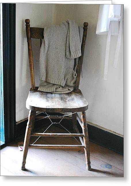 Apron Greeting Cards - Old Sweater  Greeting Card by Jerry Cordeiro