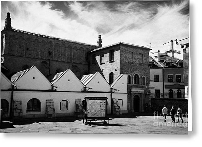 old synagogue and jewish city of krakow museum kazimierz krakow Greeting Card by Joe Fox