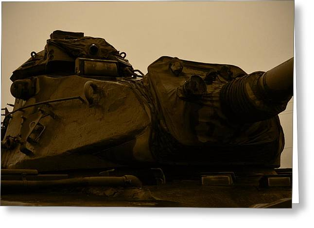 M60 Tank Greeting Cards - Old Tank Laid Out To Rest Greeting Card by Richard Booth