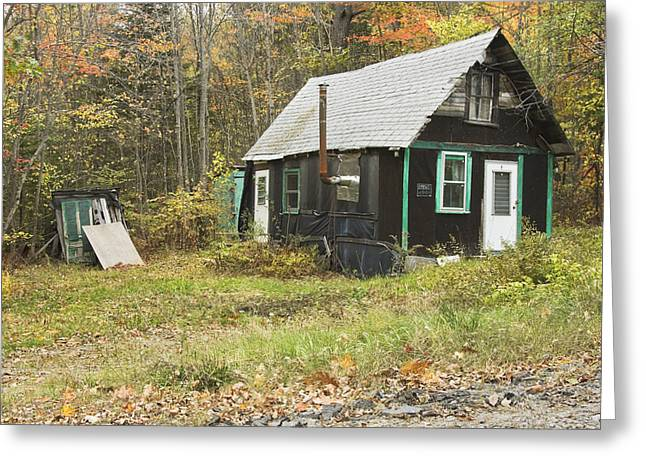 Shed Greeting Cards - Old Tar Paper Shack Greeting Card by Keith Webber Jr