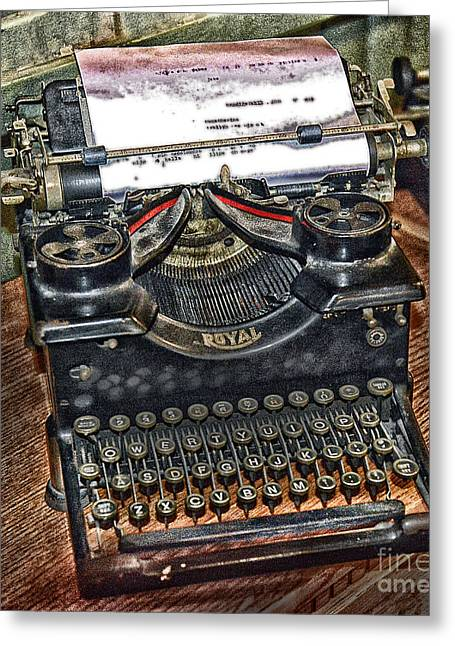 Typewriter Keys Greeting Cards - Old Technology Greeting Card by Arnie Goldstein