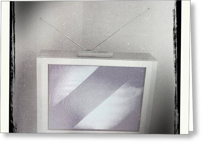 Old television Greeting Card by Les Cunliffe