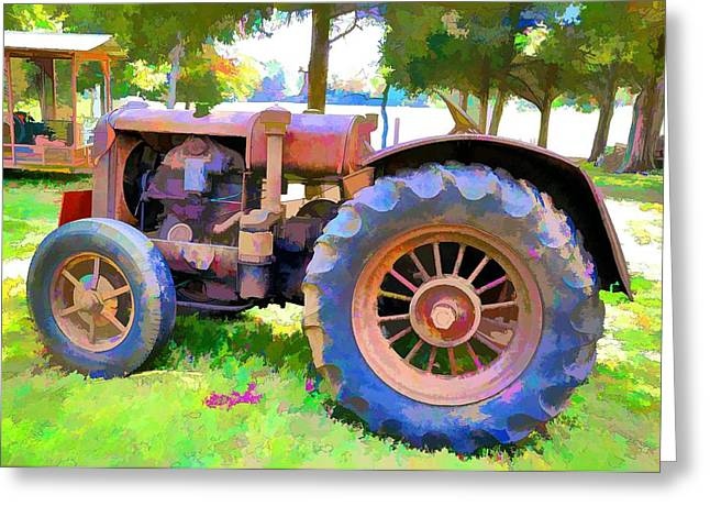Tennessee Farm Digital Art Greeting Cards - Old Tennessee Tractor Greeting Card by Jan Amiss Photography