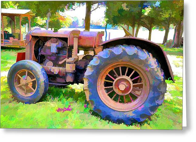 Tennessee Farm Digital Greeting Cards - Old Tennessee Tractor Greeting Card by Jan Amiss Photography
