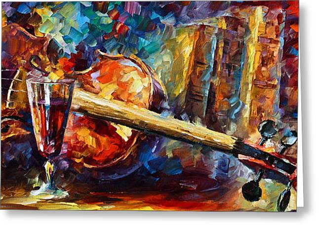 Glass Cup Greeting Cards - Old Thoughts Greeting Card by Leonid Afremov