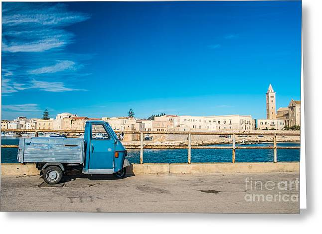 South Italy Greeting Cards - Old three wheels car Greeting Card by Sabino Parente