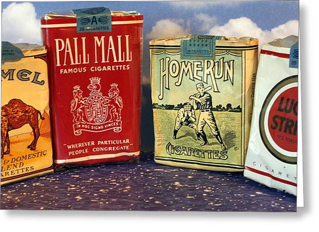 Bad Drawing Photographs Greeting Cards - Old time cigarette Greeting Card by Danny Jones