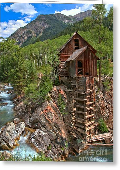 Water Powered Generator Greeting Cards - Old Time Colorado Greeting Card by Adam Jewell