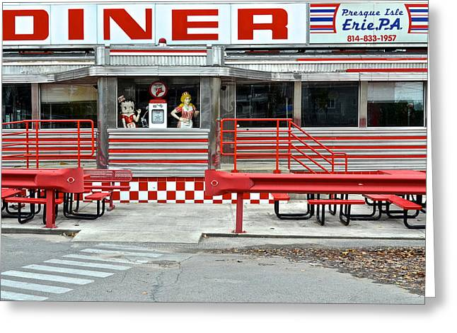 Youthful Greeting Cards - Old Time Diner Greeting Card by Frozen in Time Fine Art Photography