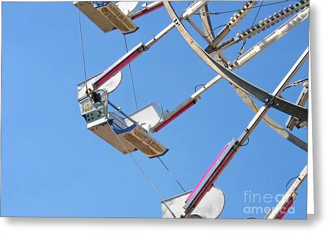 Old Time Ferris Wheel Greeting Card by Ann Horn
