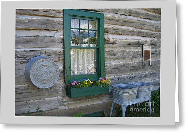 20th Greeting Cards - Old Time Laundry Room Greeting Card by Ann Horn