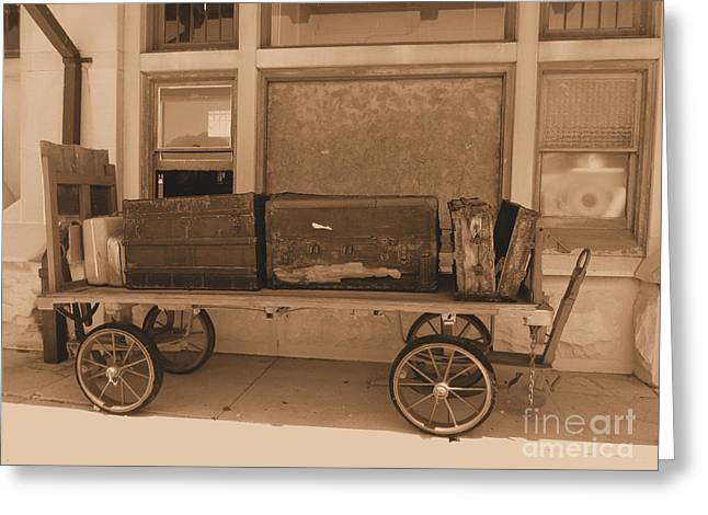 French Lick Indiana Greeting Cards - Old Time Luggage Greeting Card by Kathryn Smith
