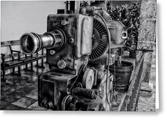 Big Screen Photographs Greeting Cards - Old Time Movies Greeting Card by Mountain Dreams