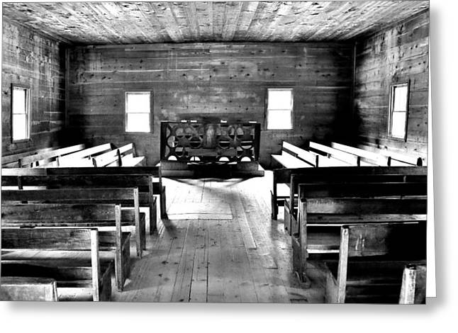 Fundamentalism Greeting Cards - Old Time Religion -- Cades Cove Primitive Baptist Church Greeting Card by Stephen Stookey