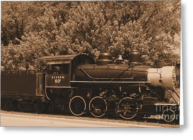 French Lick Indiana Greeting Cards - Old Time Train Greeting Card by Kathryn Smith