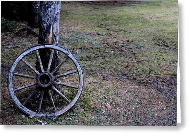 Old Western Photos Greeting Cards - Old TIme Wagon Wheel Greeting Card by Julien Boutin