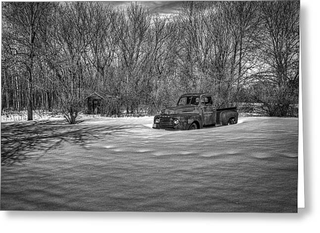 Thomas Young Greeting Cards - Old Timer In The Snow Greeting Card by Thomas Young