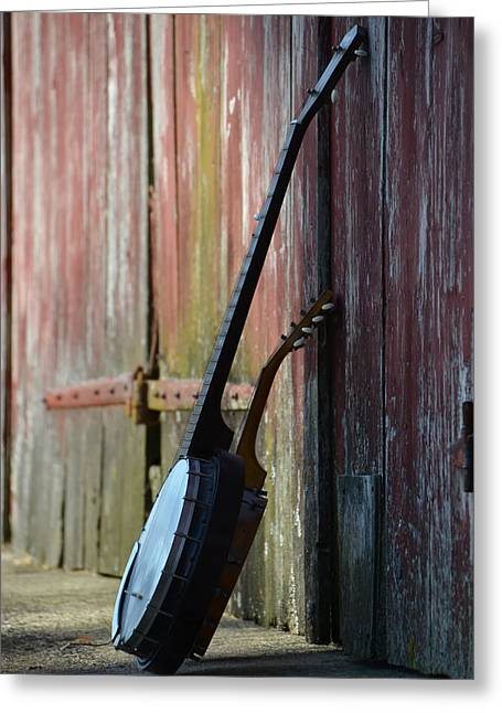 Barn Door Digital Greeting Cards - Old Timey Music Greeting Card by Bill Cannon
