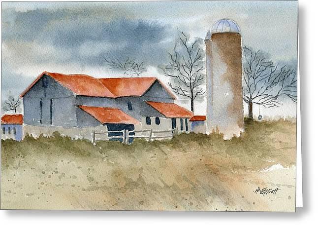 Recently Sold -  - Barn Yard Greeting Cards - Old Tire Swing Greeting Card by Marsha Elliott