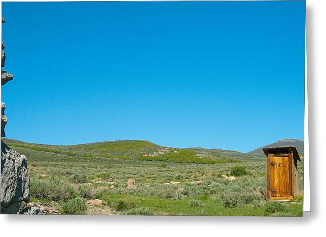 Cubicle Greeting Cards - Old toilet in countryside Greeting Card by Celso Diniz