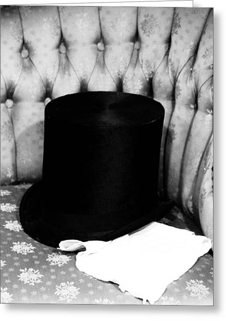 Tophat Greeting Cards - Old Top Hat Greeting Card by Dan Sproul