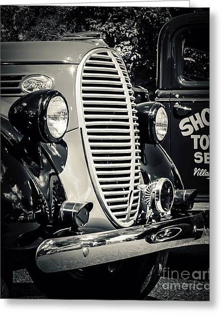 Old Truck Photography Greeting Cards - Old Towing Service Greeting Card by Perry Webster