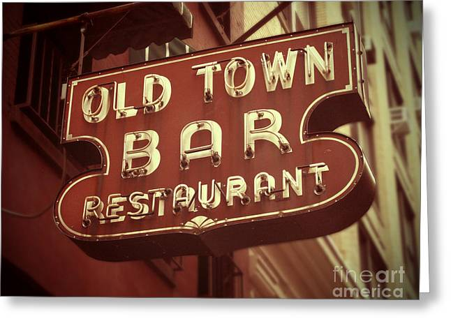 1930s Greeting Cards - Old Town Bar - New York Greeting Card by Jim Zahniser