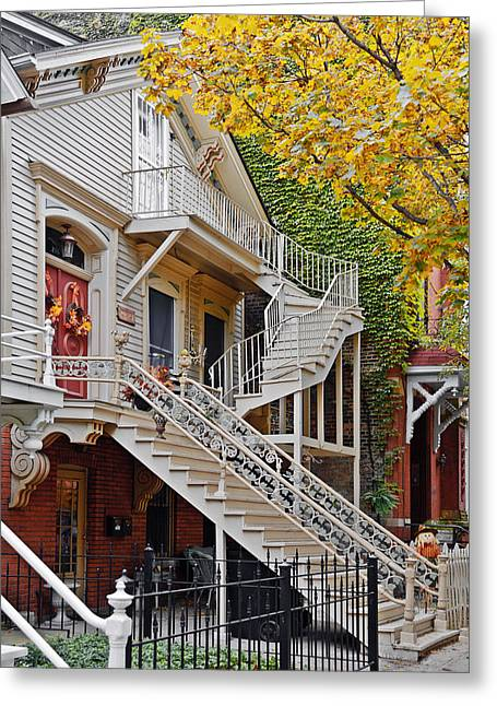 Old Town Chicago Living Greeting Card by Christine Till