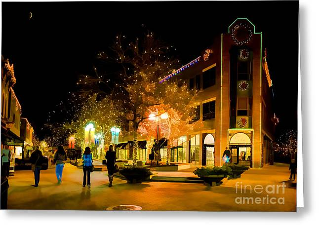 Old Town Christmas Greeting Card by Jon Burch Photography