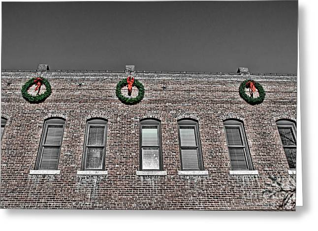 Old Town Christmas Greeting Card by Baywest Imaging