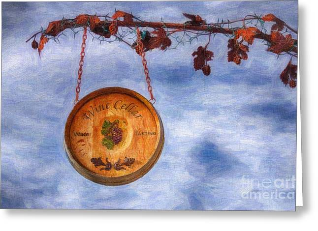 Winemaking Digital Greeting Cards - Verde Valley Wine Trail Greeting Card by Priscilla Burgers