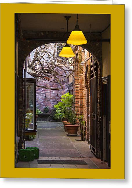 Entryway Greeting Cards - Old Town Courtyard In Victoria British Columbia Greeting Card by Ben and Raisa Gertsberg