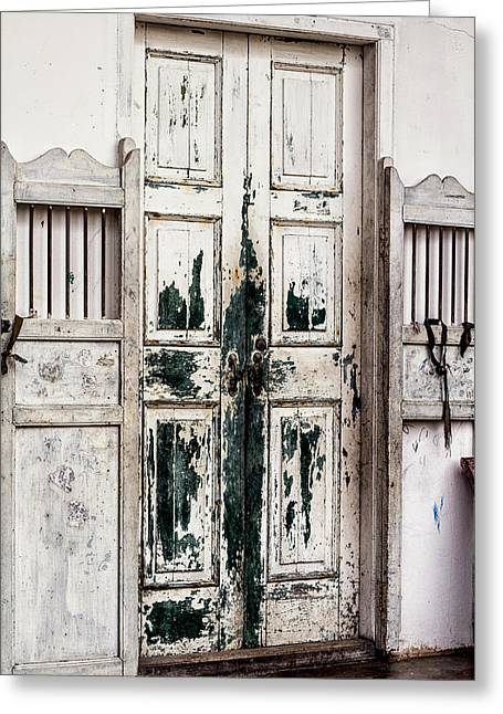 Phuket Greeting Cards - Old Town Door Greeting Card by Nomad Art And  Design