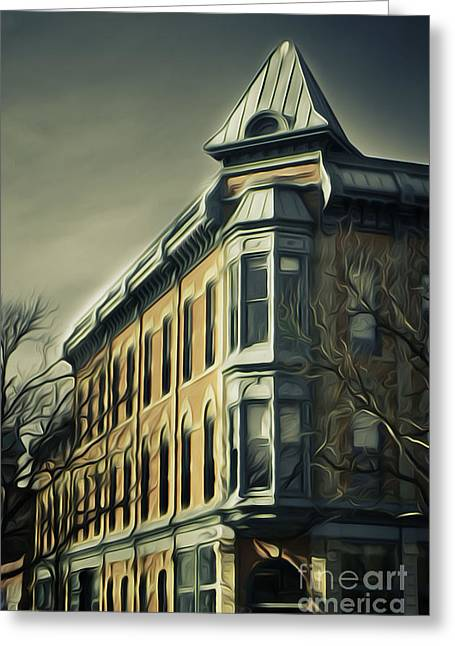 Fort Collins Digital Greeting Cards - Old Town Fort Collins Greeting Card by Julieanna D