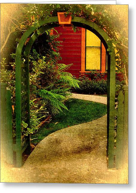 Carter House Greeting Cards - Old Town Gateway Greeting Card by See My  Photos
