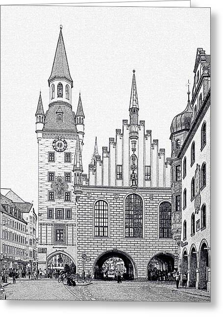 City View Greeting Cards - Old Town Hall - Munich - Germany Greeting Card by Christine Till