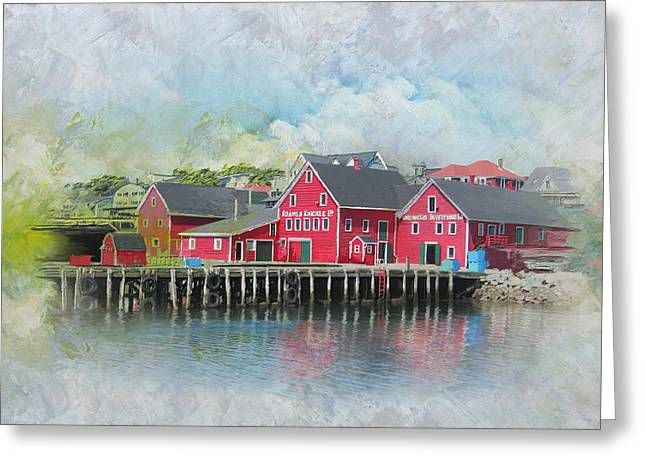 Glacier Bay Greeting Cards - Old Town Lunenberg Greeting Card by Catf