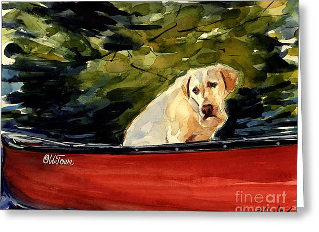 Labrador Retrievers Greeting Cards - Old Town Greeting Card by Molly Poole