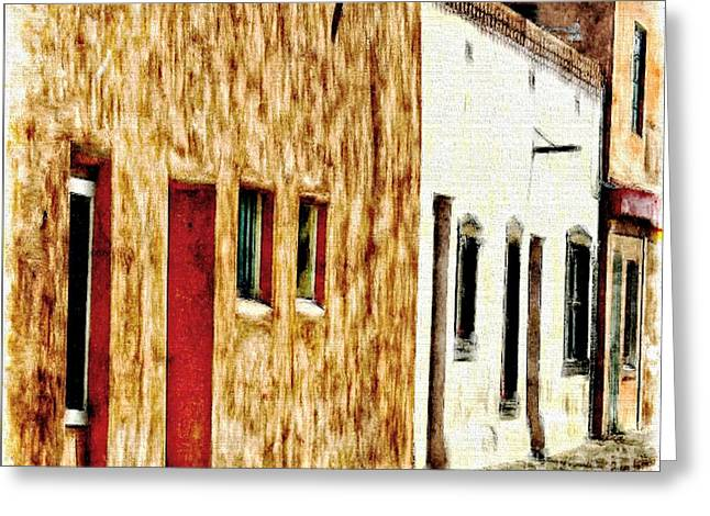 The Bean Greeting Cards - Old Town New Mexico Greeting Card by Barbara Chichester
