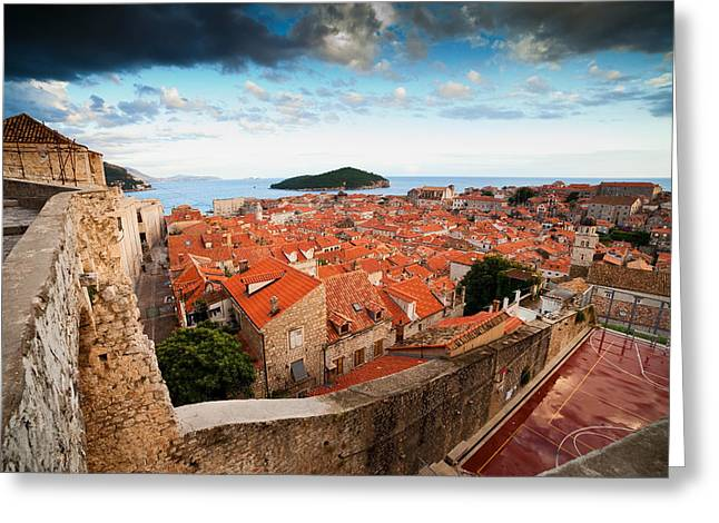 Historic Home Greeting Cards - Old Town of Dubrovnik in Croatia Greeting Card by Artur Bogacki