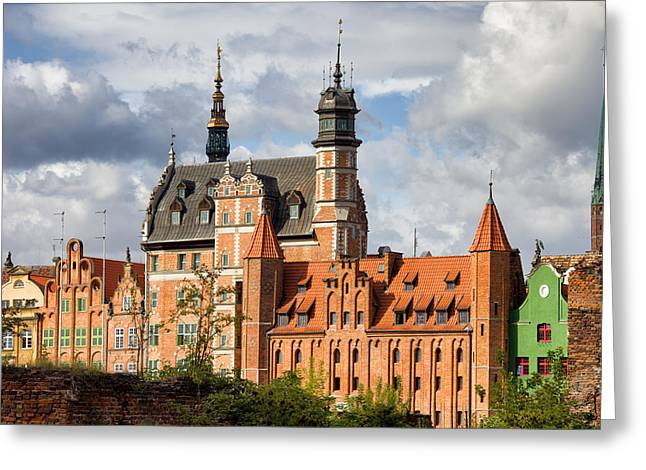 Polish Old Town Greeting Cards - Old Town of Gdansk in Poland Greeting Card by Artur Bogacki