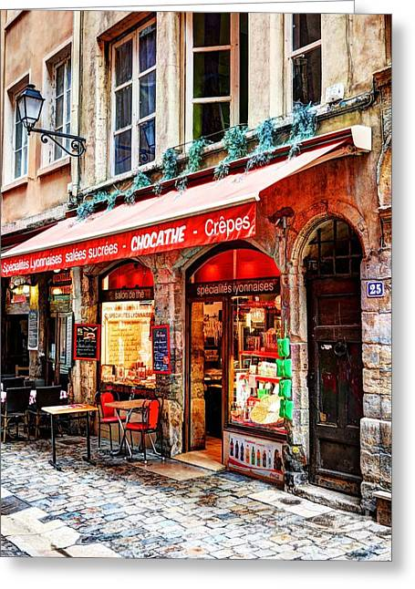 Menu Greeting Cards - Old Town Of Lyon Greeting Card by Mel Steinhauer