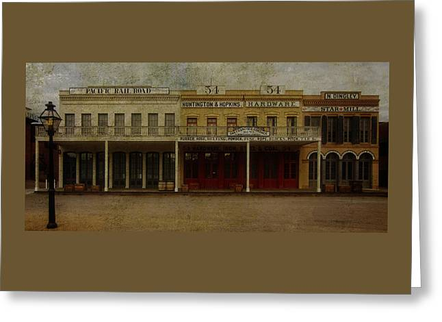 Art For Sale Greeting Cards - Old Town Sacramento Greeting Card by Thom Zehrfeld