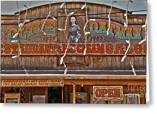 Saloons Greeting Cards - Old Town Saloon Greeting Card by Crystal Harman