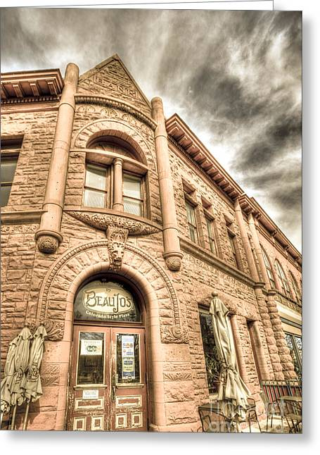 Fort Collins Digital Greeting Cards - Old Town Sandstone Greeting Card by JulieannaD Photography
