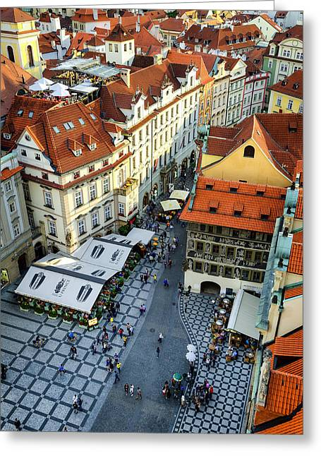 Old Town Square In Prague Greeting Card by Pablo Lopez
