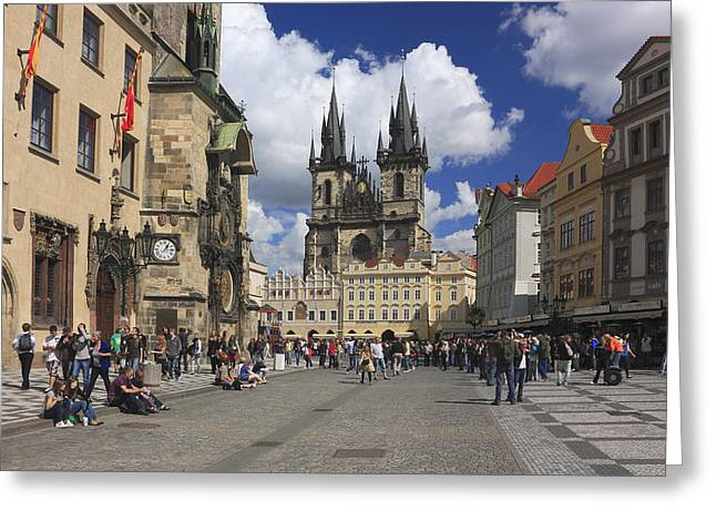 Czechia Greeting Cards - Old Town Square Prague Czech Republic  Greeting Card by Ivan Pendjakov